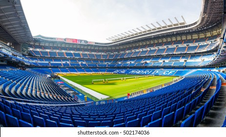 MADRID, SPAIN - December 26,2015 : Santiago Bernabeu Stadium is the current home stadium of Real Madrid FC and holds a capacity of 81000 people