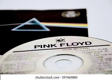 MADRID, SPAIN – DECEMBER 3: Pink Floyd Dark side of the moon album on December 3, 2016 in Madrid, Spain.