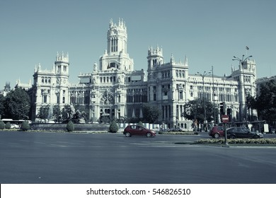 Madrid, Spain. Desaturated color style.