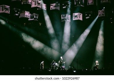 MADRID, SPAIN - FEBRUARY 5: Rock band Metallica, performing on Madrid on February 5, 2018 at Wizink Center Venue