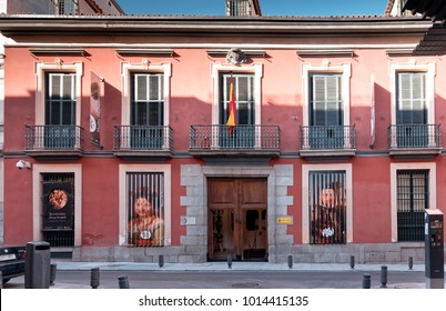 Madrid, Spain - January 30, 2018: The Museum of Romanticism of Madrid, Spain