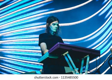 MADRID, SPAIN - JULY 12: Australian rock band Tame Impala, performing on Madrid on July 12, 2018 at Madcool Festival