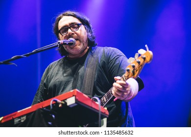 MADRID, SPAIN - JULY 12: Indie rock band Yo La Tengo, performing on Madrid on July 12, 2018 at Madcool Festival