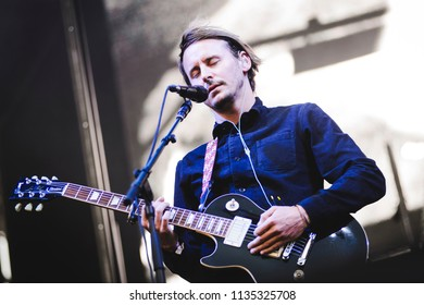 MADRID, SPAIN - JULY 13: Brit Award winner Ben Howard, performing on Madrid on July 13, 2018 at Madcool Festival