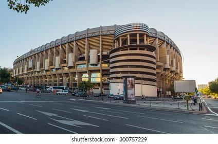 MADRID, SPAIN - JULY 28: Santiago Bernabeu Stadium on July 28, 2015 in Madrid, Spain. Real Madrid is one of the best soccer clubs in Spain