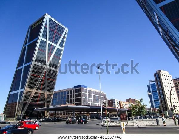 MADRID, SPAIN â?? JULY 31: Kio towers on july 31, 2016 in Madrid, Spain.