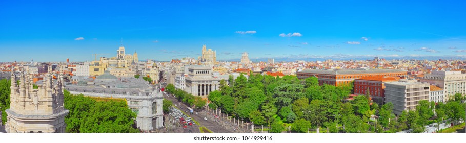 Madrid, Spain - June 06, 2017 :Panoramic view from above on the capital of Spain- the city of Madrid. One of the most beautiful cities in the world.