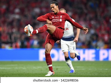 MADRID, SPAIN - JUNE 1, 2019: Virgil Van Dijk of Liverpool pictured during the 2018/19 UEFA Champions League Final.