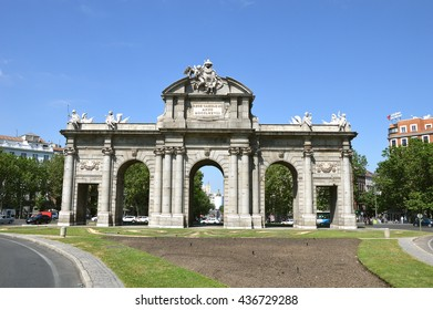 MADRID, SPAIN - JUNE 11: Puerta de Alcala (Alcala gate) on June 11, 2016 in Madrid, Spain.