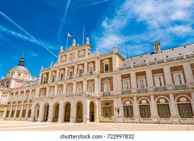 MADRID, SPAIN - JUNE 25, 2016: Royal Palace of Aranjuez, Madrid, Spain.