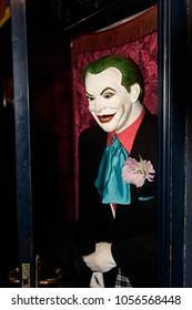 MADRID, SPAIN - MAR 28, 2018: Jocker from the DC comics and cinematographic univers in the Wax Museum in Madrid