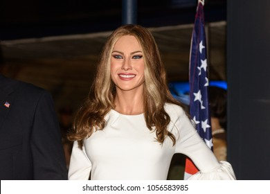 MADRID, SPAIN - MAR 28, 2018: Melania  Trump, the current First Lady of the United States and Donald Trump's wife