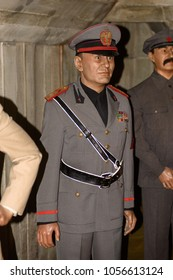 MADRID, SPAIN - MAR 28, 2018: Benito Amilcare Andrea Mussolini, the leader of the National Fascist Party, Second World War section, Wax Museum, Madrid