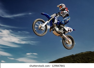 MADRID, SPAIN - MAR 6 : Spanish rider Raul Benito in a Yamaha races in Motocross Madrid Championship, on Mar 6, 2011 in Madrid, Spain