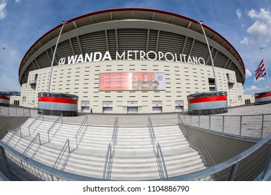 MADRID, SPAIN - MAY 11,2018: Wanda Metropolitano Stadium on May 11, 2018 in Madrid, Spain.