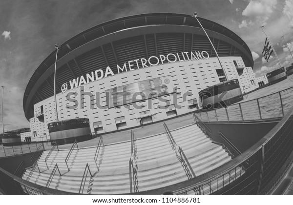MADRID, SPAIN - MAY 11,2018: Wanda Metropolitano Stadium on May 11, 2018 in Madrid, Spain.