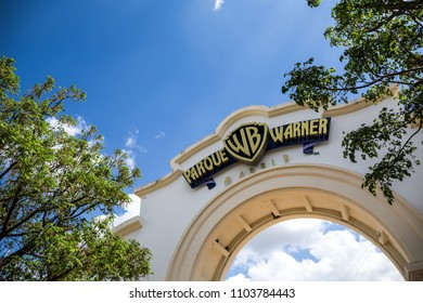 MADRID, SPAIN - MAY 11,2018: Warner Bros Park on May 11, 2018 in Madrid, Spain.