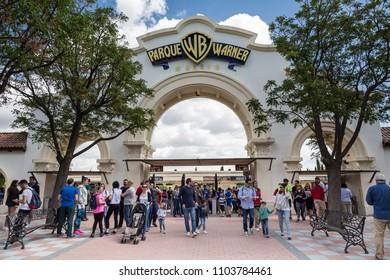MADRID, SPAIN - MAY 11,2018: Warner Bros Park on May 11, 2018 in Madrid, Spain.