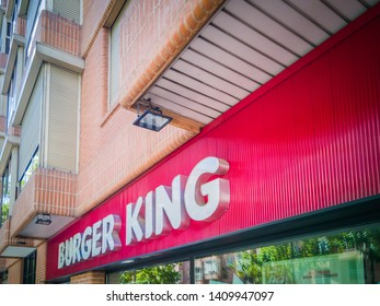 Madrid / Spain - May 25, 2019: A photo of the Burger King in Guzman el Bueno.