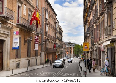 MADRID, SPAIN - MAY 28, 2014: Old Madrid center, city street