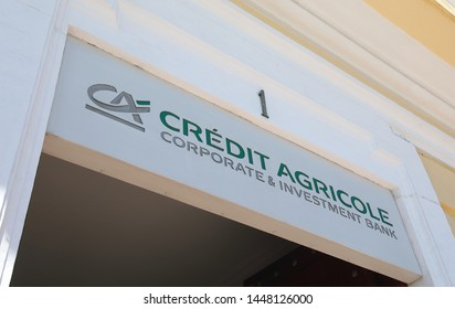 MADRID SPAIN - MAY 28, 2019: Credit Agricole bank Spain