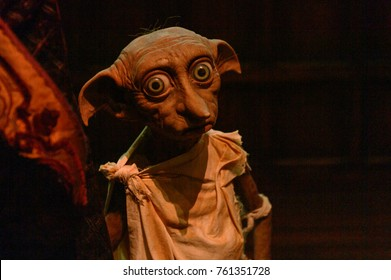 MADRID, SPAIN - NOV 22, 2017: Dobby domestic elf, Wizarding world of Harry Poter experience in Madrid, Spain