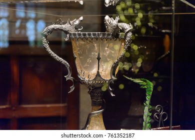 MADRID, SPAIN - NOV 22, 2017: Goblet of Fire, Wizarding world of Harry Poter experience in Madrid, Spain