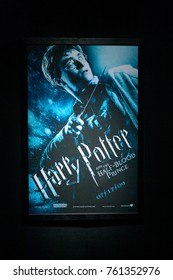 MADRID, SPAIN - NOV 22, 2017: Cover of Part 6: Half-Blood Prince (2009) film, Wizarding world of Harry Poter experience in Madrid, Spain