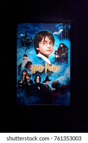 MADRID, SPAIN - NOV 22, 2017: Cover of Part1: Philosopher's Stone (2001) film, Wizarding world of Harry Poter experience in Madrid, Spain