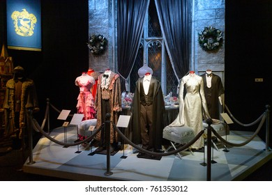 MADRID, SPAIN - NOV 22, 2017: Dance costumes, Wizarding world of Harry Poter experience in Madrid, Spain