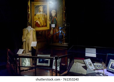 MADRID, SPAIN - NOV 22, 2017: Gilderoy Lockhart office, Wizarding world of Harry Poter experience in Madrid, Spain