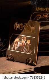 MADRID, SPAIN - NOV 22, 2017: Souvenirs, Wizarding world of Harry Poter experience in Madrid, Spain