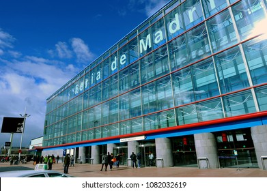 Madrid, Spain - November 21, 2010: Building and pavilions of the Trade Fair Institution of Madrid (Ifema), where exhibitions and congresses take place throughout the year.