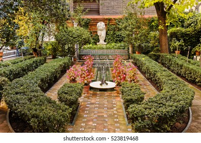 Delicieux Madrid, Spain   November 24, 2016: Gardens Of Sorolla Museum In Madrid,