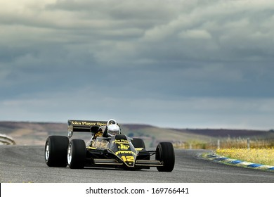 MADRID, SPAIN - OCT 30 : British driver Greg Thornton races in a classic Lotus 92 during the Jarama Vintage Festival, on Oct 30, 2011 in Madrid, Spain.