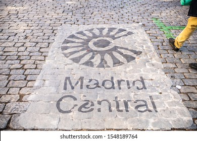 Madrid /Spain - October 13, 2019:  Beautiful sign on the street at the opening to the famous El Rastro market in the La Latina / La Ribera neighborhood in central Madrid, open on Sundays.