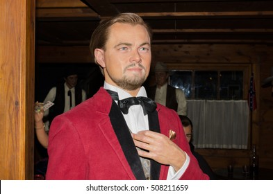 MADRID, SPAIN - OCTOBER 2, 2015: Leonardo Di Caprio Wax figure on October 2, 2015 at Madrid wax museum, Spain.