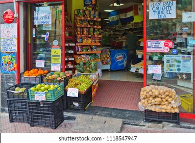 MADRID, SPAIN - OCTOBER 25, 2015 : Small street shop in the center of Madrid