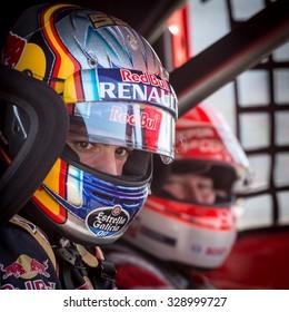 MADRID, SPAIN - OCTOBER 3 2015. XXIX European Truck racing Championship, Jarama circuit. Formula I pilot Carlos Sainz