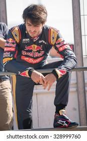 MADRID, SPAIN - OCTOBER 3 2015. XXIX European Truck racing Championship, Jarama circuit. Formula I pilot Carlos Sainz.