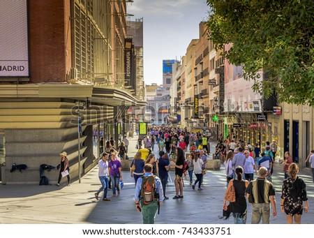 97759810a8b Madrid Spain October 4 2017 Preciados Stock Photo (Edit Now ...