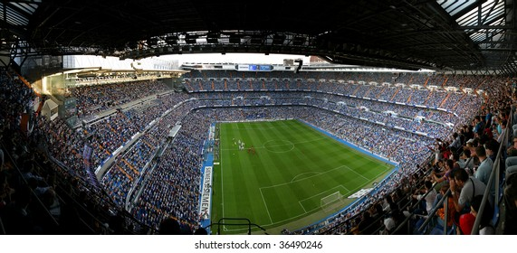 MADRID, SPAIN - Sept 7:  Santiago Bernabeu Stadium, Madrid, Real Madrid  game September 7, 2005