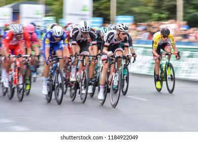 Madrid, Spain - September 13, 2018.   La Vuelta 2018. Stage 21. Martijn Tusveld (NED) N.157 - Team Sunweb