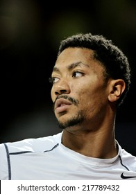 MADRID, SPAIN - September 14th 2014 : DERRICK ROSE of USA during the Final game of FIBA BASKETBALL WORLD CUP 2014 at Palacio de los Deportes Arena