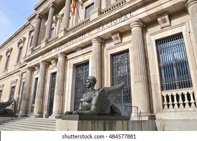 MADRID, SPAIN - SEPTEMBER 17: National Archaeological Museum on september 17, 2016 in Madrid, Spain.
