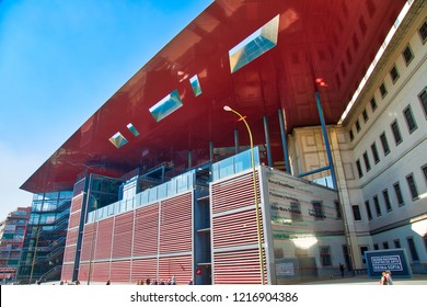 Madrid, Spain-16 October, 2017: Reina Sofia Museum of Art (Museo Nacional Centro De Arte Reina Sofia)