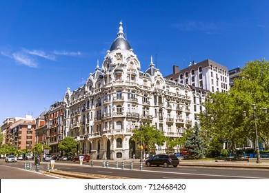 Madrid street, Spain