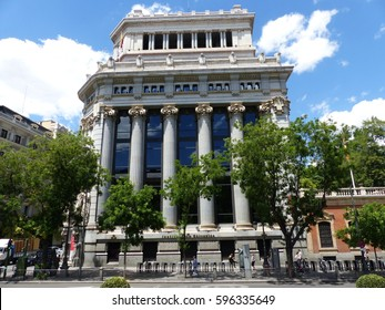 Madrid / Streets of Madrid / picture showing a place in Madrid, streets, buildings, architecture. Taken in April 2016.