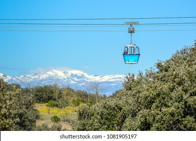 Madrid's cable car (Teleférico de Madrid in Spanish). a gondola lift that links the Parque del Oeste with the Casa de Campo.