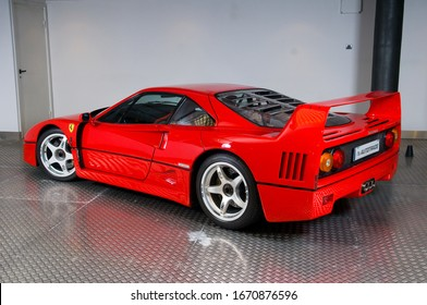 Madrid,Spain. 01/20/2015.The Ferrari F40 is a super sports car produced by the Italian manufacturer Ferrari. Manufacturing started in 1987 on the occasion of the 40th anniversary of the foundation of